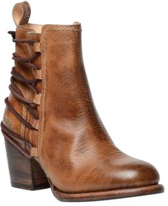 Bed Stü Ankle Lace Up Leather Tan Rustic Boots