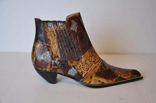 Bruel Pointed Toe Ankle Size 36 Brown Multi Boots
