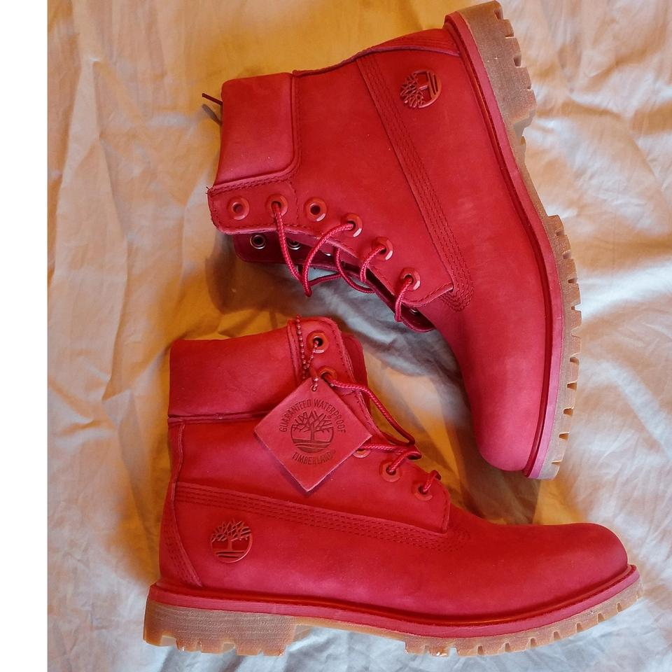f5ed101e7b3 Timberland Ruby Red 6 Inch Premium Waterproof Boots/Booties Size US 7  Regular (M, B) 19% off retail
