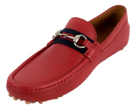 Gucci Red 322741 Men's Web Loafers Us 8.5 Eu 7.5 Shoes Image 2