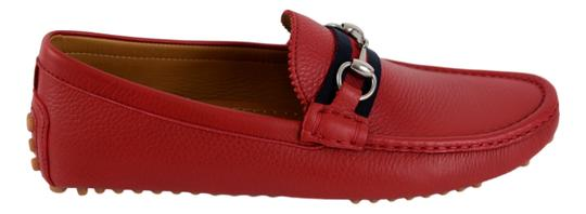 Gucci Red 322741 Men's Web Loafers Us 8.5 Eu 7.5 Shoes Image 6