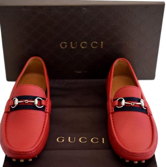 Gucci Red 322741 Men's Web Loafers Us 8.5 Eu 7.5 Shoes Image 9