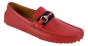 Gucci Red 322741 Men's Web Loafers Us 9.5 Eu 8.5 Shoes