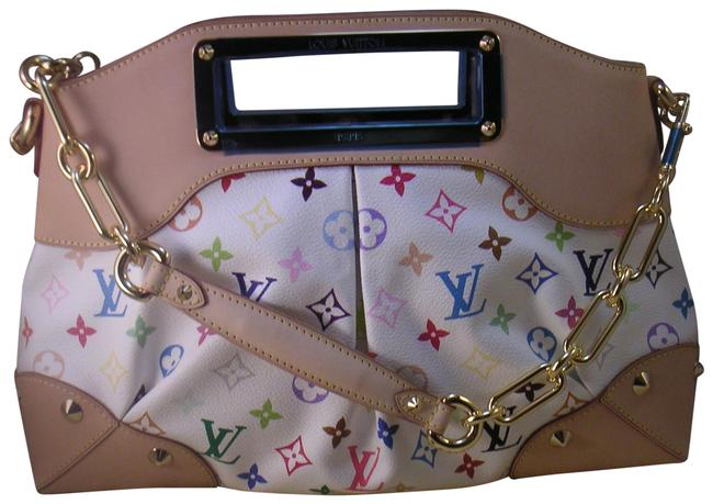 Item - Multi Color Judy Gm White Leather Satchel