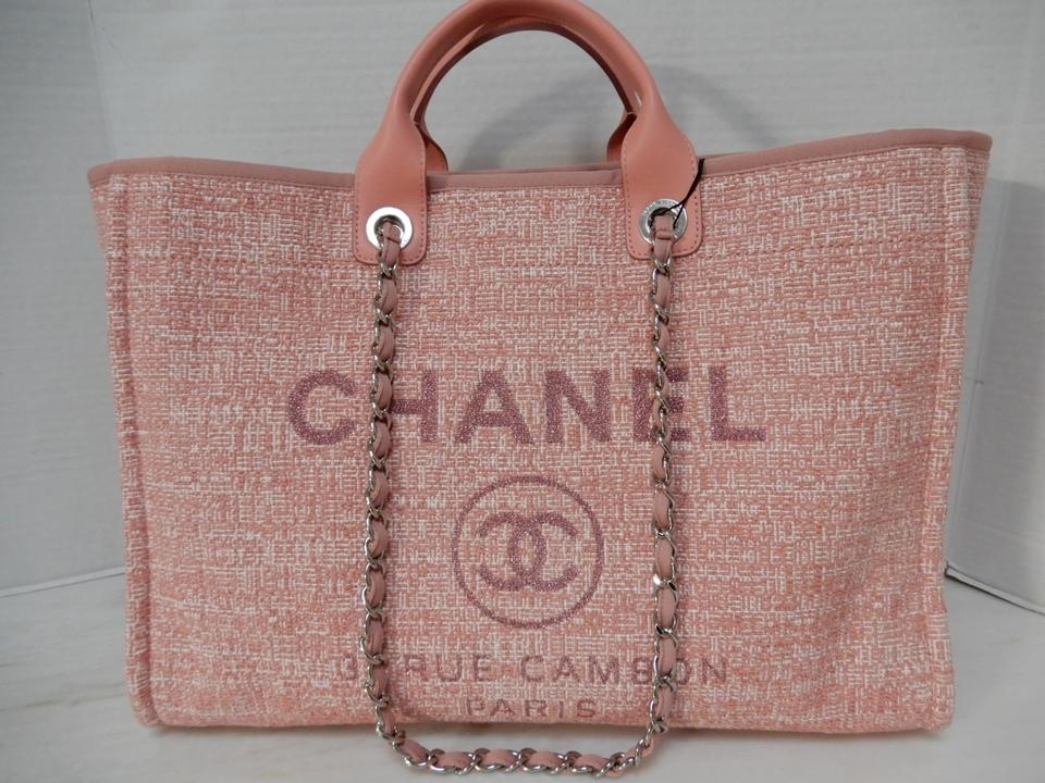 dd86504dcdf0 Chanel Deauville Grand Large Shopper 2018 Pink Canvas Tote - Tradesy