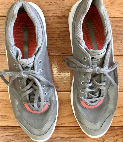 adidas By Stella McCartney Sneakers Designer Workout Gray and coral Athletic Image 1