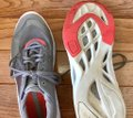 adidas By Stella McCartney Sneakers Designer Workout Gray and coral Athletic Image 5