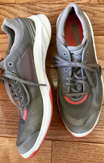 adidas By Stella McCartney Sneakers Designer Workout Gray and coral Athletic Image 7
