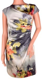 Kay Unger Cap Sleeve Cut-out Cocktail Career Dress