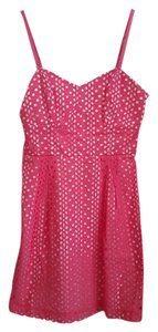 Kensie short dress pink and white polka dotted Summer Fun Flirty on Tradesy