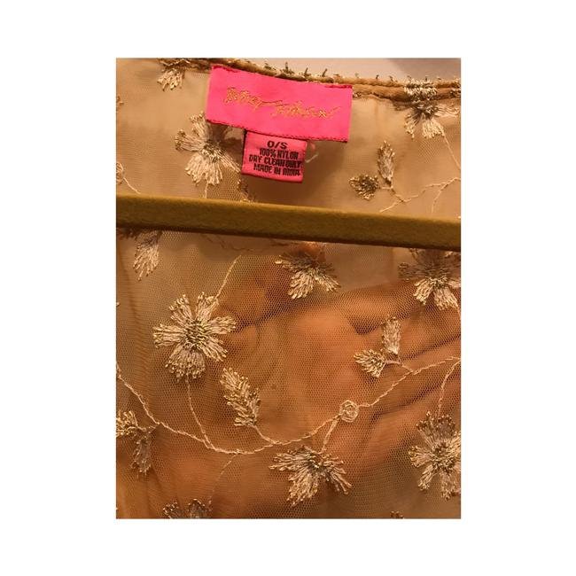 Betsey Johnson Top Gold Image 1