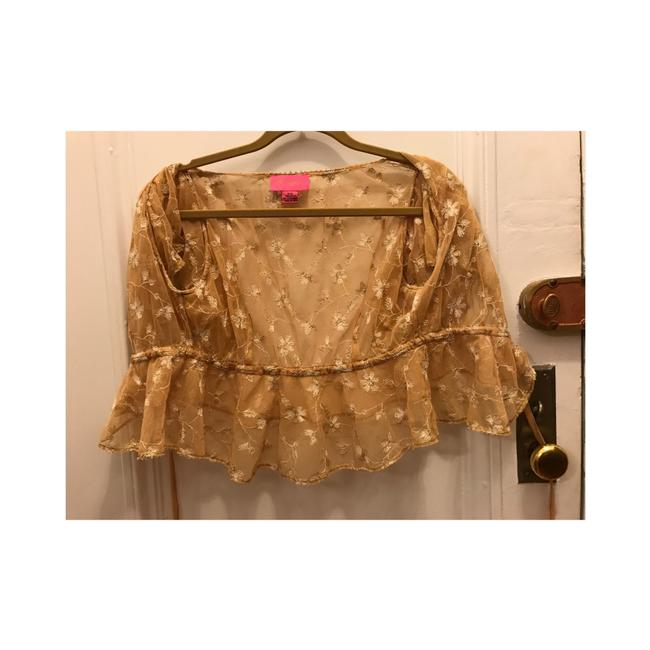 Betsey Johnson Top Gold Image 2