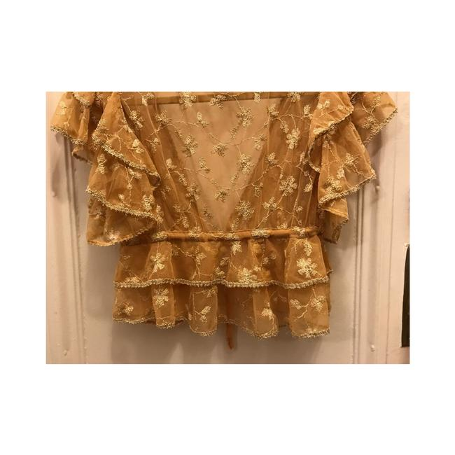 Betsey Johnson Top Gold Image 3