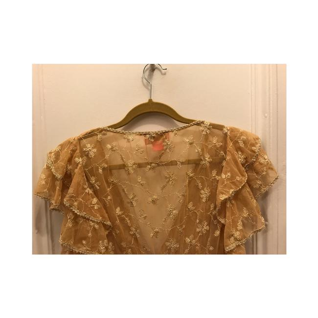 Betsey Johnson Top Gold Image 4