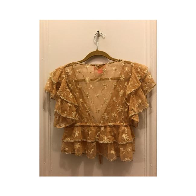 Betsey Johnson Top Gold Image 5