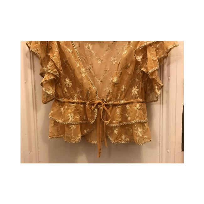 Betsey Johnson Top Gold Image 6