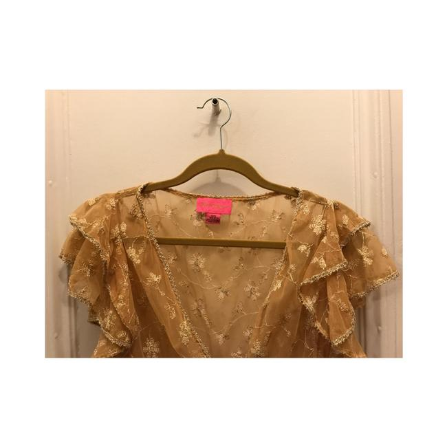 Betsey Johnson Top Gold Image 7