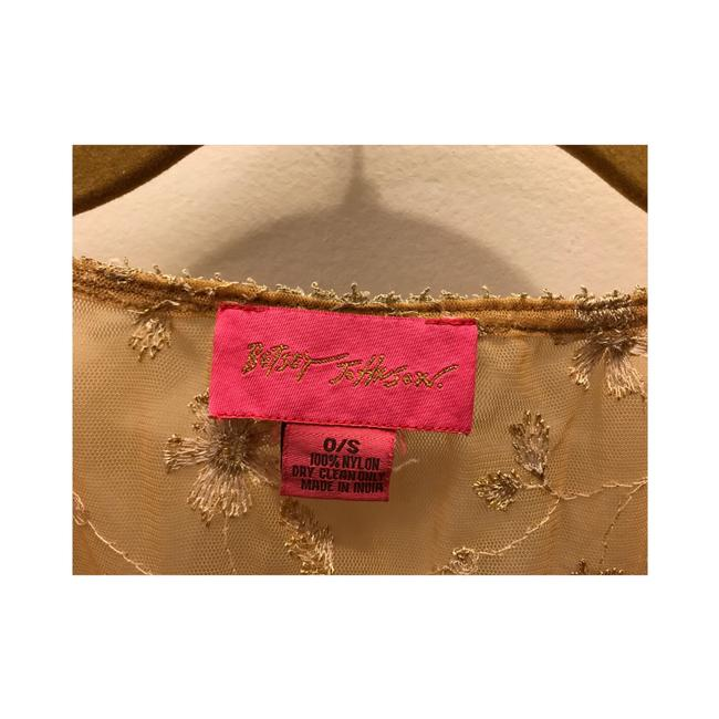 Betsey Johnson Top Gold Image 8
