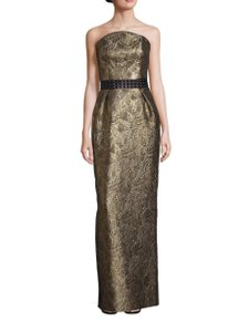Nha Khanh Black Tie Evening Brocade Dress
