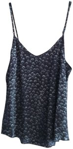 Aritzia Silk Top Purple and Black Pattern