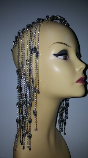Other Glam head chain tiara bridal Image 4
