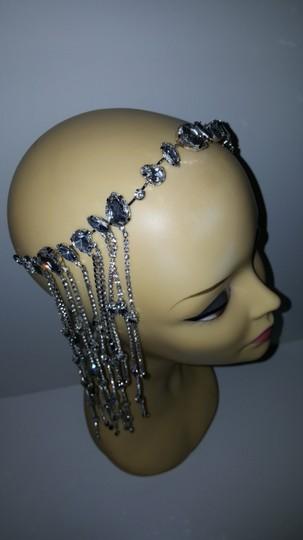Other Glam head chain tiara bridal Image 5