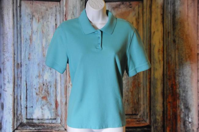 Croft & Barrow Style Size L Great Condition Top Turquoise Image 1
