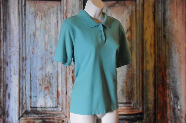 Croft & Barrow Style Size L Great Condition Top Turquoise Image 2