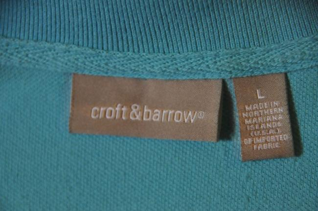 Croft & Barrow Style Size L Great Condition Top Turquoise Image 4