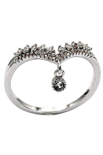 Ocean Fashion Small Pendant Crystal silver Ring Image 2