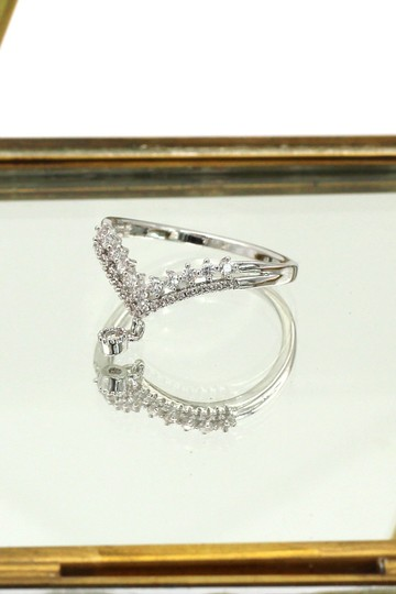 Ocean Fashion Small Pendant Crystal silver Ring Image 4
