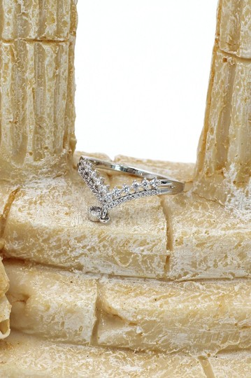 Ocean Fashion Small Pendant Crystal silver Ring Image 8