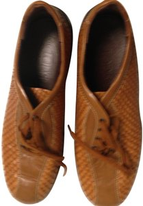 Todds Leather caramel ,beige Flats