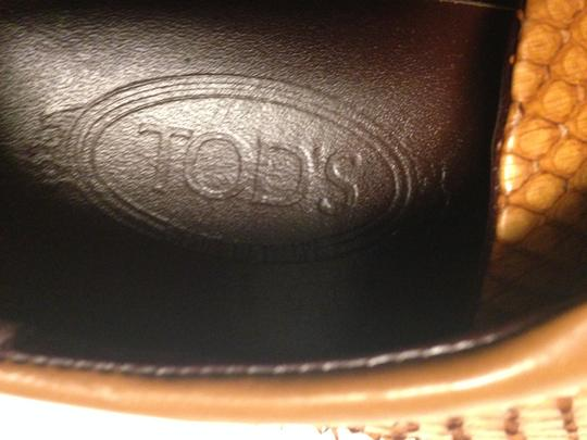 Todds Leather caramel ,beige Flats Image 1