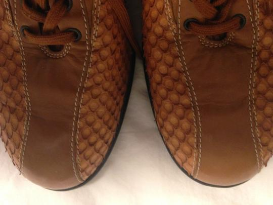 Todds Leather caramel ,beige Flats Image 3