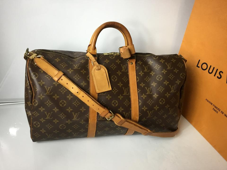 46bc6407fa74 Louis Vuitton Speedy Neverfull 1992 Vintage Keepall 50 Bandouliere with  Lock and Key Monogram Travel Bag ...