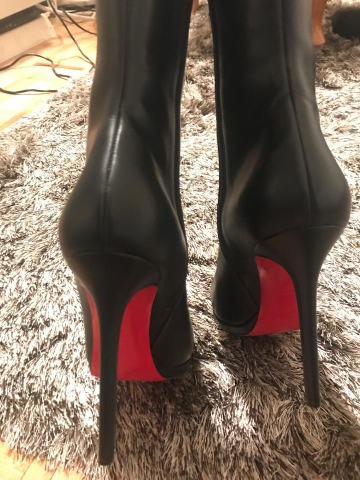 new style c1de5 958ff Christian Louboutin Black Botalili 120 Calf Boots/Booties Size EU 40  (Approx. US 10) Wide (C, D) 10% off retail