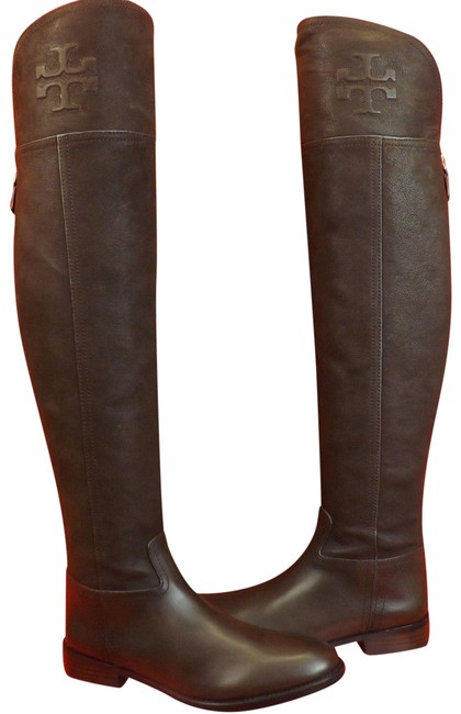 Item - Brown Simone Chocolate Leather Over The Knee Split Reva Riding Boots/Booties Size US 8.5 Regular (M, B)