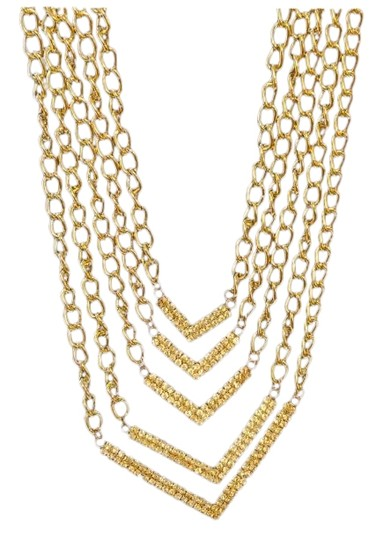 Other Gold Tone Multi Strand Necklace Image 0