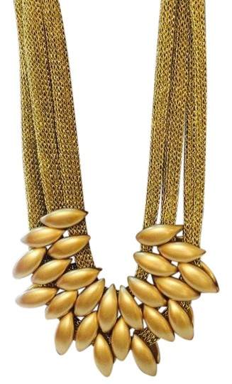 Other Gold Tone Mesh Necklace Image 0