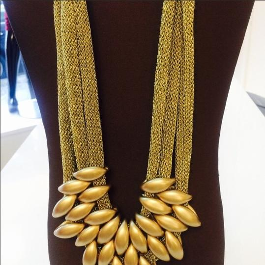 Other Gold Tone Mesh Necklace Image 3