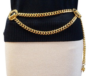 St. John ST JOHN KNITS VINTAGE 22K GOLD ELECTROPLATED SIGNED CHAIN BELT ONE SIZE CLASSIC