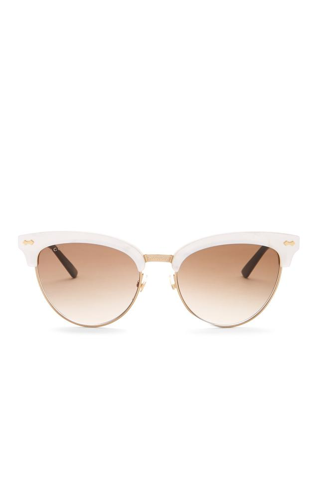 1ad6b141c Gucci Frame Color: Mother Of Pearl Gold - Lens Color: Brown Gradient Lens  Club New Women's Master Acetate Reduced Sunglasses
