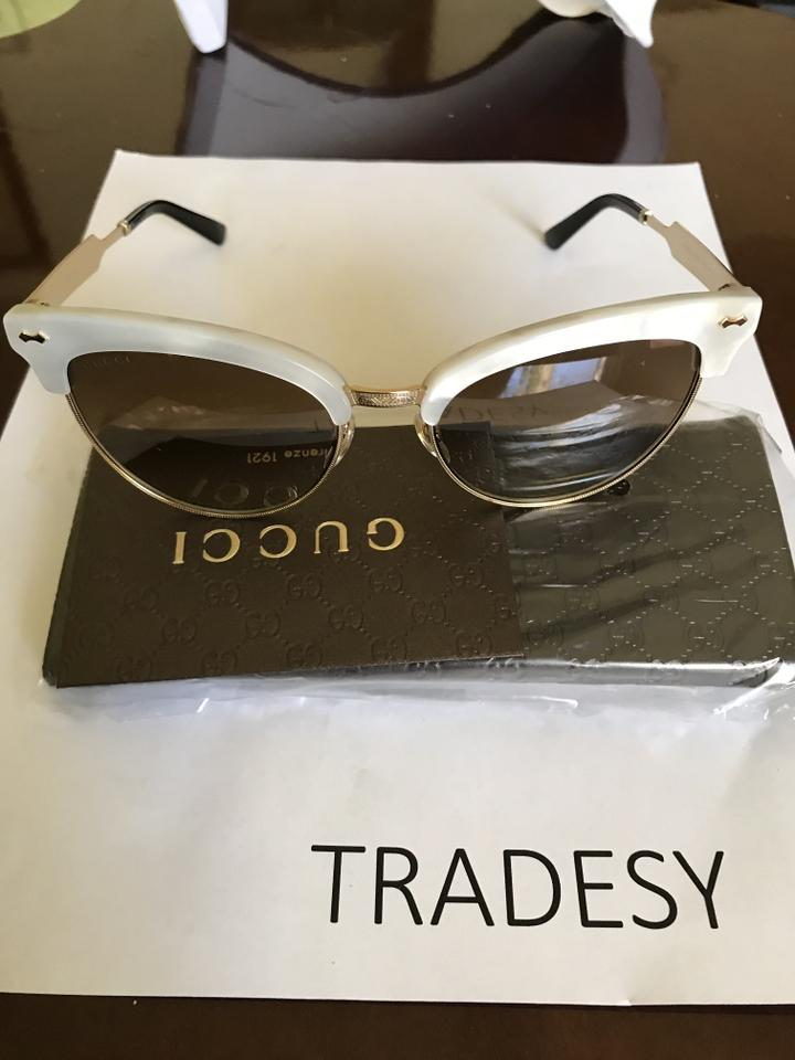 a5741836ec5 Gucci Frame Color  Mother Of Pearl Gold - Lens Color  Brown Gradient ...