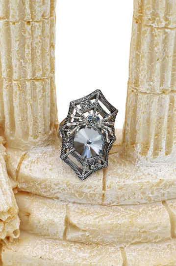Ocean Fashion Silver Special Spider Crystal Ring Image 8