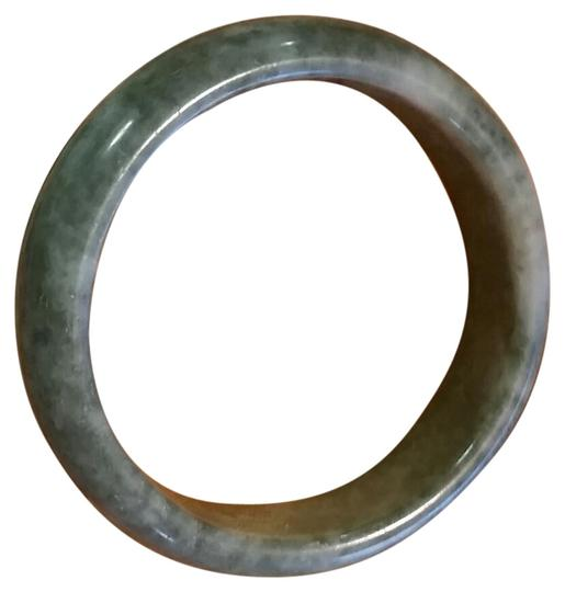 Lucky Jade Natural Chinese Green Lucky Jade Bangle Bracelet Size Diameter 60mm Image 0