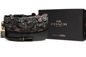 Coach 1941 Butterfly Limited Edition Leather Wristlet in Black