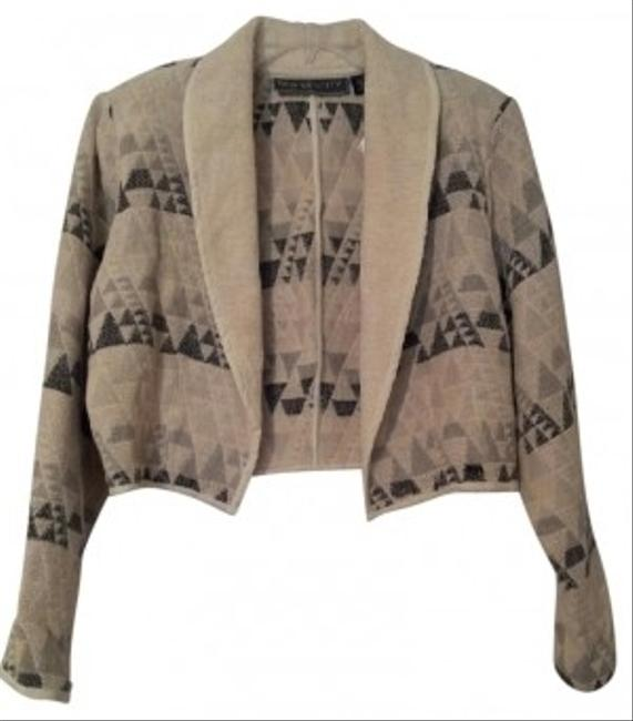 New Identity Beige with gray pattern Jacket