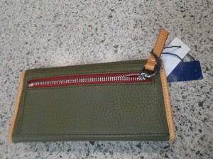 Dooney & Bourke Wallet Leather Wallet Green Olive Clutch