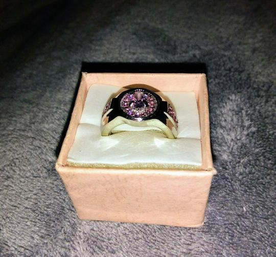 Unknown Women's Size 8 White Gold Plated and Pink Sapphire Ring Image 1